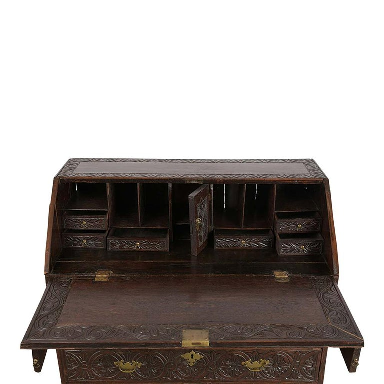 Mid-19th Century Early 19th Century Renaissance Style Slant Front Desk For Sale