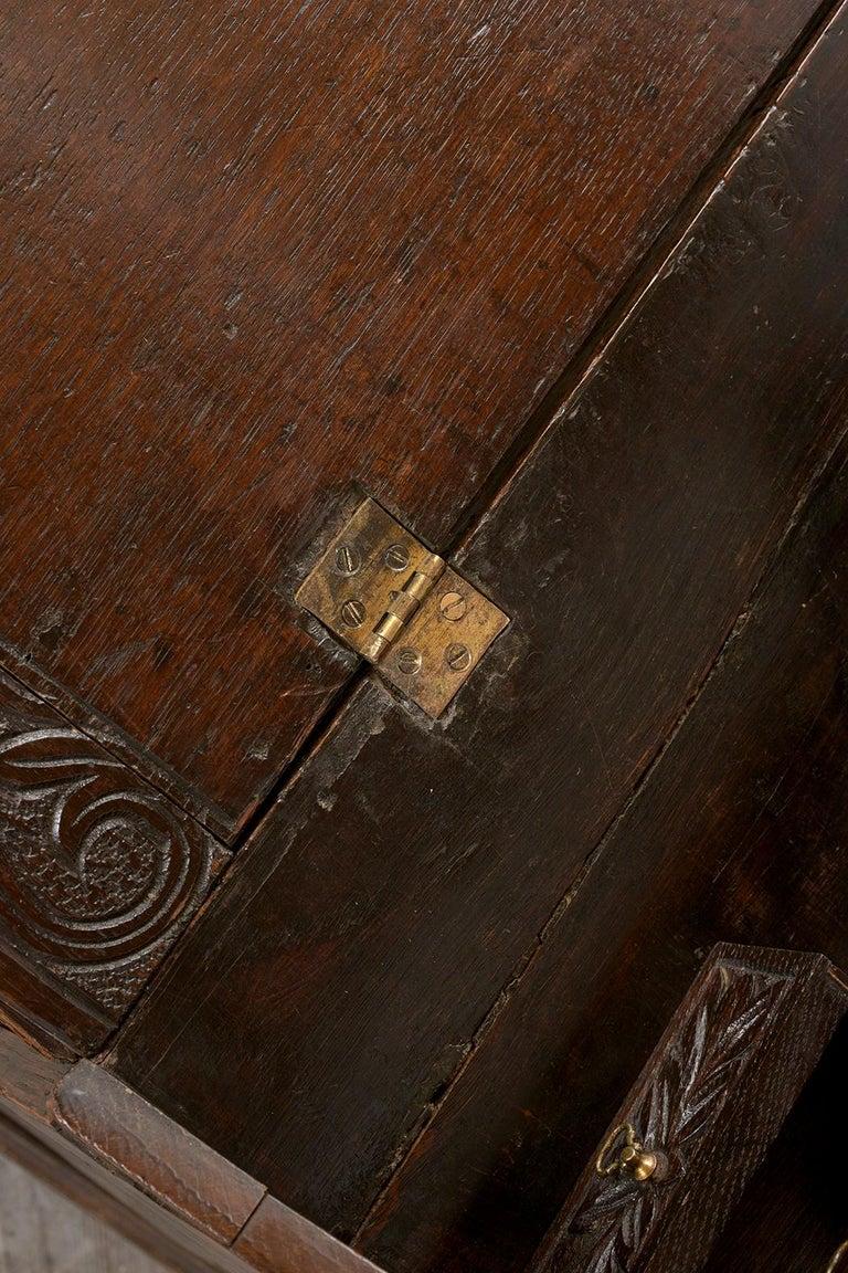Brass Early 19th Century Renaissance Style Slant Front Desk For Sale