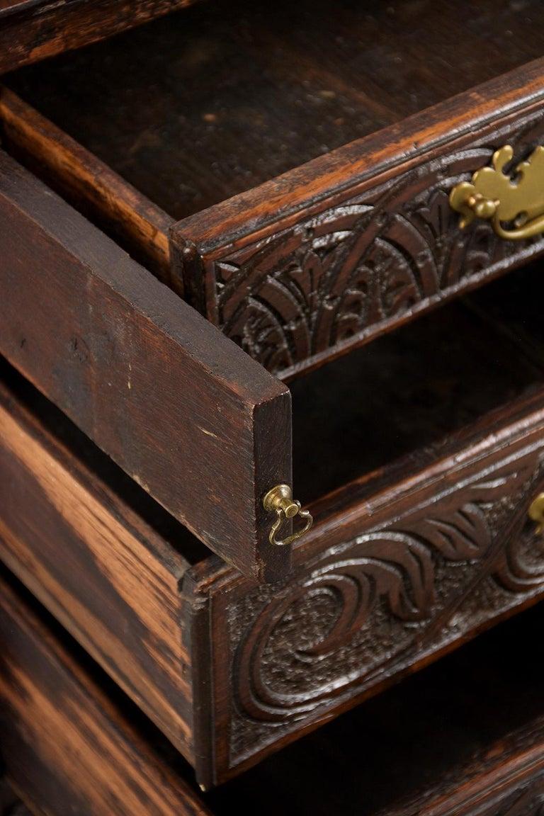 Early 19th Century Renaissance Style Slant Front Desk For Sale 1