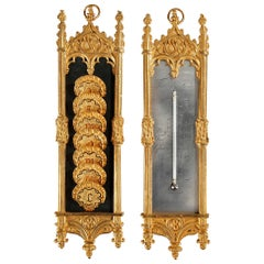 Early 19th Century Restauration Thermometer and Semainier