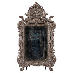 Early 19th Century Rococo Silver Mirror