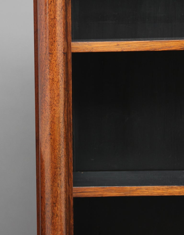 Early 19th Century Rosewood and Brass Inlaid Bookcase For Sale 8
