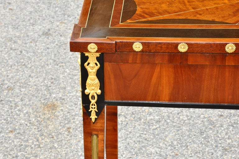 Brass Early 19th Century Russian Neoclassical Table by Heinrich Gambs For Sale