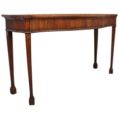 Early 19th Century Satinwood Serpentine Serving Table