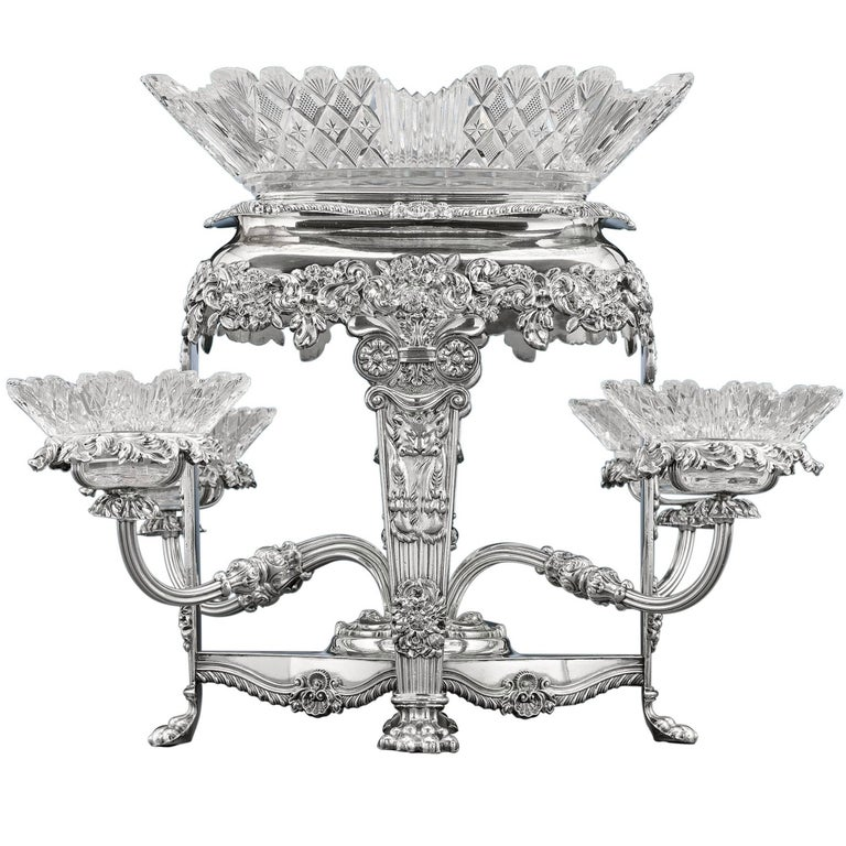 Early 19th Century Sheffield Silver Plate Epergne