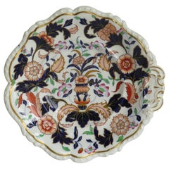 Early 19th Century Shell Desert Dish Porcelain Hand Painted, Staffordshire UK