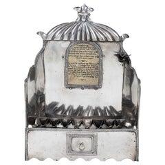 Early 19th Century Silver French Hanukkah Lamp Menorah