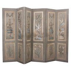 Early 19th Century Six-Panel Screen