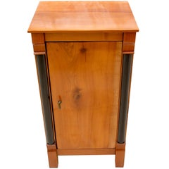Early 19th Century Small Cherry Nightstand or Pillar Cabinet