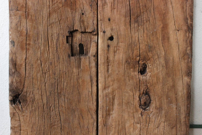 Early 19th Century Solid Mesquite Wood Gate Found in San Miguel de Allende For Sale 1