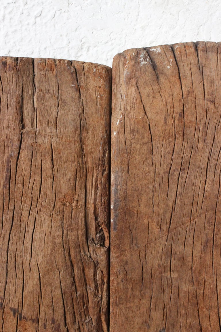 Early 19th Century Solid Mesquite Wood Gate Found in San Miguel de Allende For Sale 2