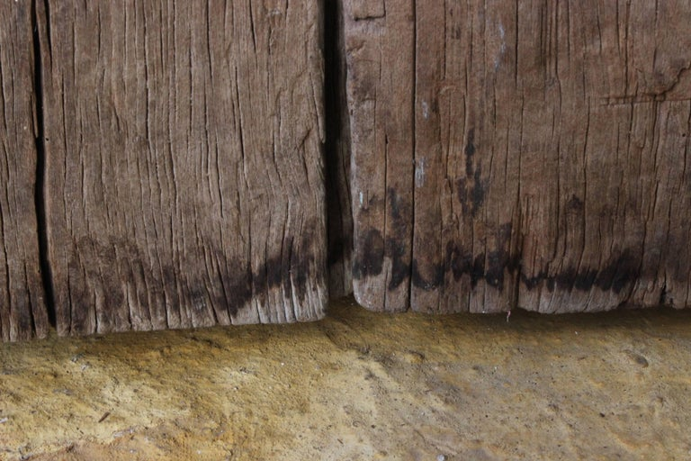Early 19th Century Solid Mesquite Wood Gate Found in San Miguel de Allende For Sale 3