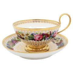 Early 19th Century, Soup Bowl, French Hand Painted Sèvres Porcelain