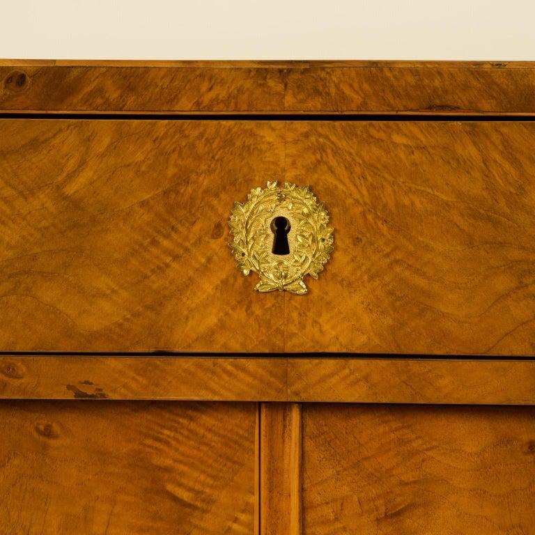 Early 19th Century South German or Austrian Biedermeier Walnut Cabinet Dresser For Sale 3