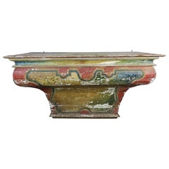 Early 19th Century Spanish Painted Alter Table