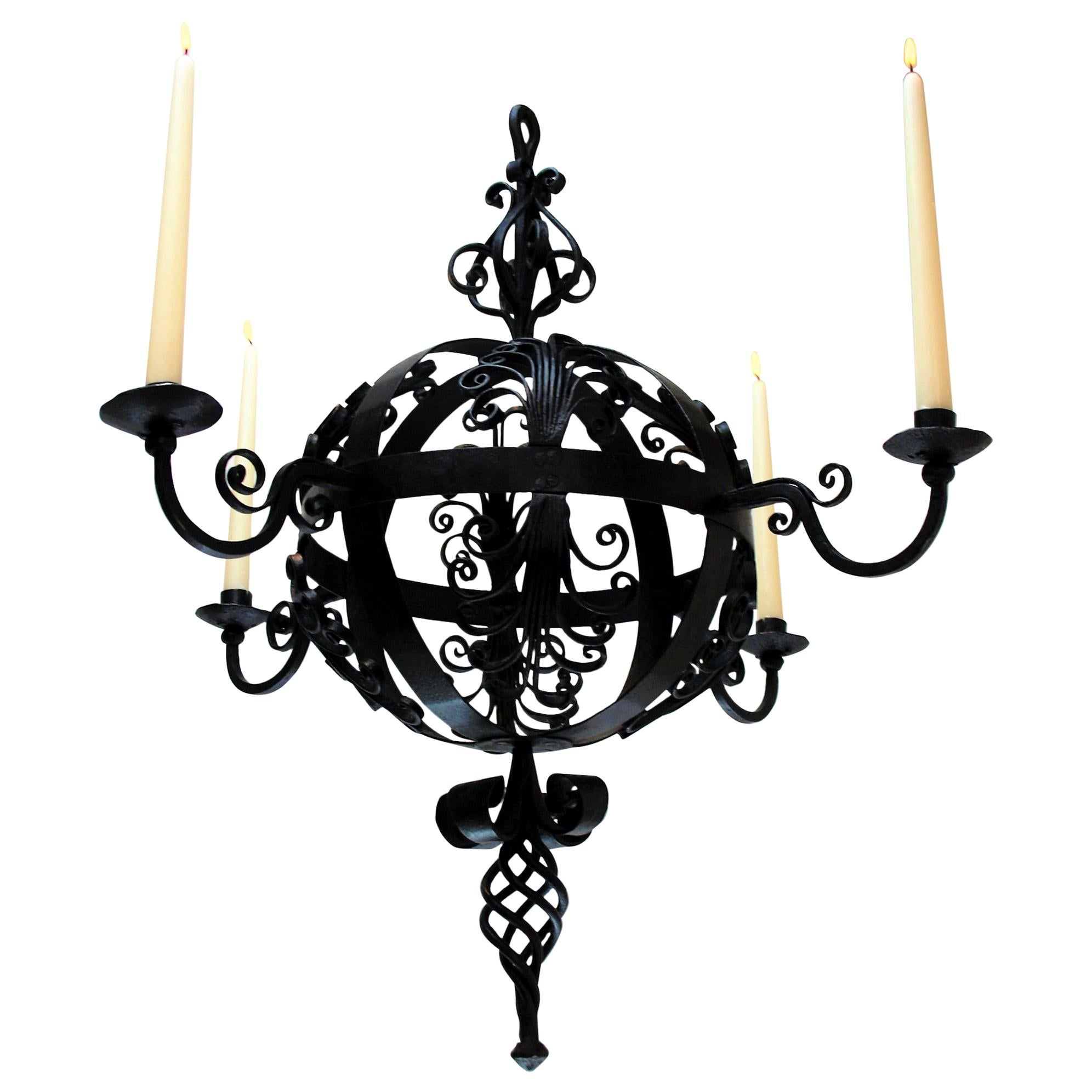 Early 19th Century Wrought Iron Chandelier