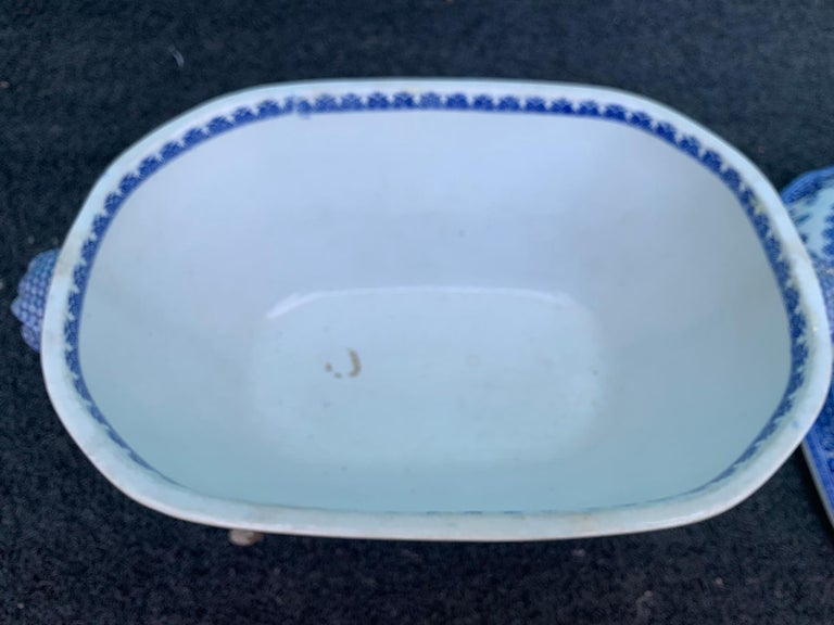 Early 19th Century Spode Blue and White Tureen For Sale 8