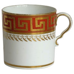 Early 19th Century Spode Porcelain Coffee Can Greek Key Pattern 806, circa 1810