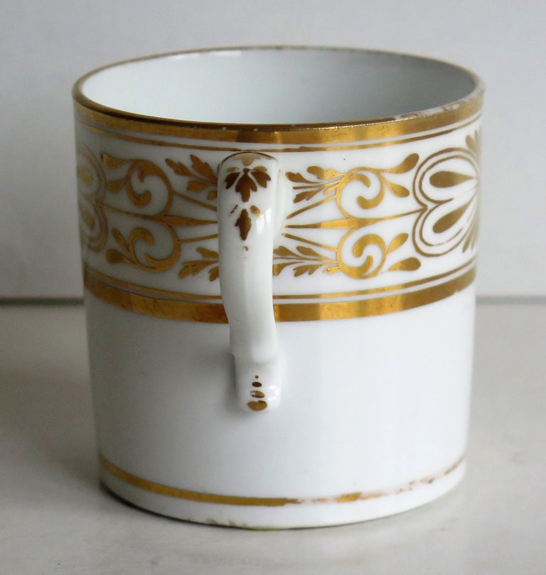 Early 19th Century Spode Porcelain Coffee Can Hand Gilded Pattern 1099, Ca 1810 For Sale 4