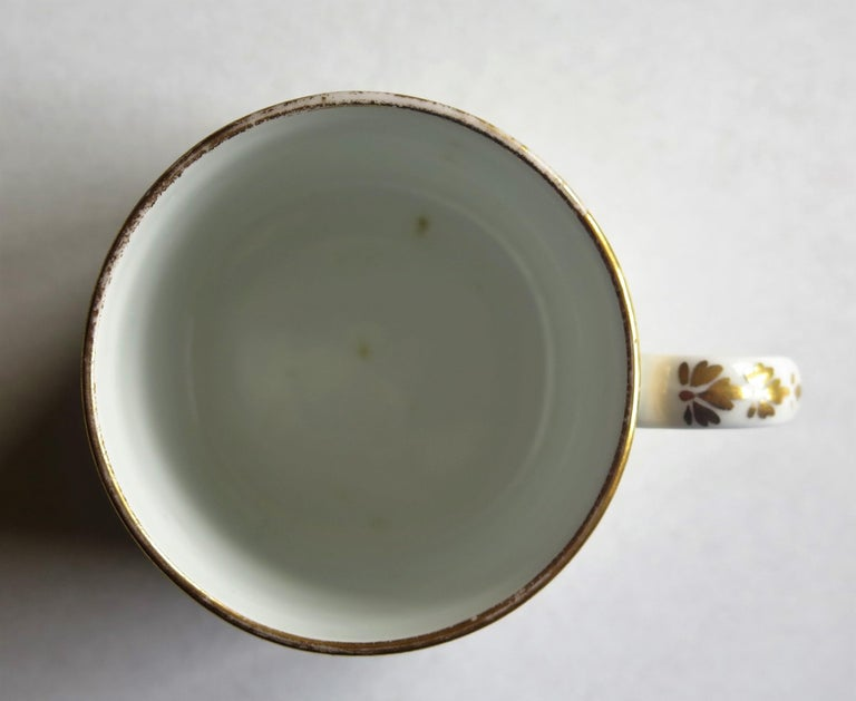 Early 19th Century Spode Porcelain Coffee Can Hand Gilded Pattern 1099, Ca 1810 For Sale 7
