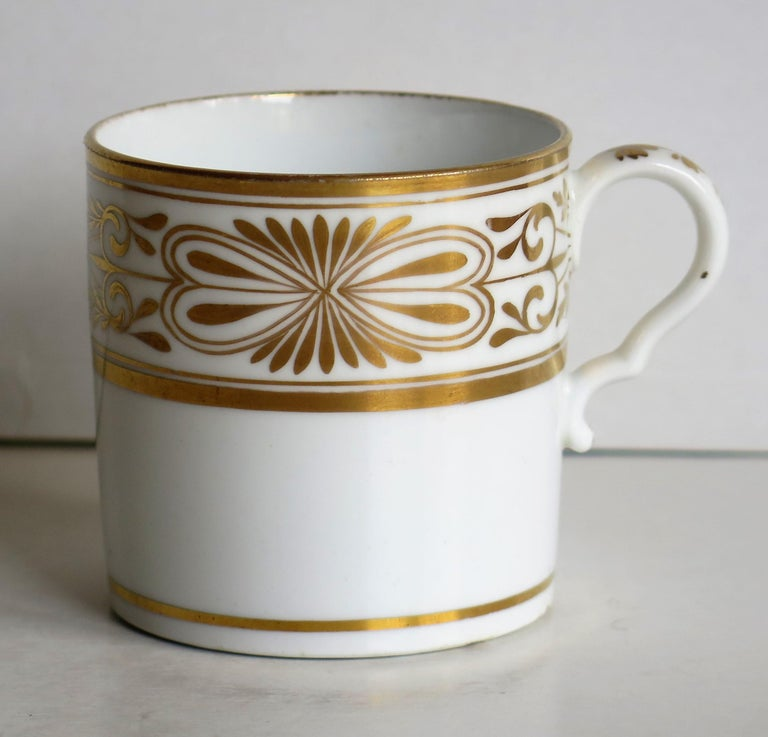 Regency Early 19th Century Spode Porcelain Coffee Can Hand Gilded Pattern 1099, Ca 1810 For Sale