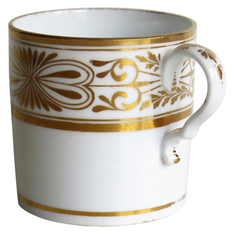 Early 19th Century Spode Porcelain Coffee Can Hand Gilded Pattern 1099, Ca 1810 For Sale