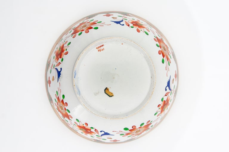 Early 19th Century Spode Porcelain Regency Punch Bowl For Sale 4