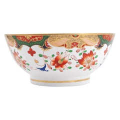 Early 19th Century Spode Porcelain Regency Punch Bowl