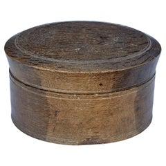Early 19th Century Swedish Carved Oak Lidded Box