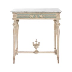 Swedish Empire Neoclassical Console with Marble Top
