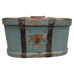 Early 19th Century Swedish Folk Art Travel Box / Chest with Original Paint