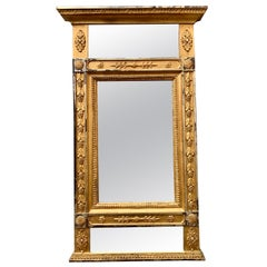 Early 19th Century Swedish Gustavian Gilded Mirror