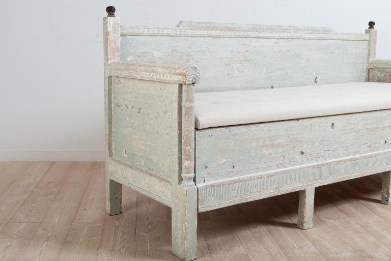 Early 19th Century Swedish Gustavian Provincial Sofa For Sale 7
