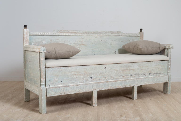 Hand-Crafted Early 19th Century Swedish Gustavian Provincial Sofa For Sale