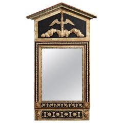 Early 19th Century Swedish Neoclassical Gustavian Wall Mirror with Faux Porphyry