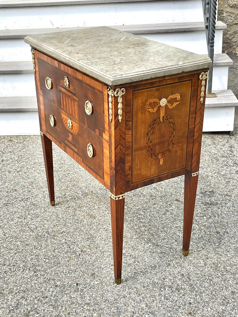 Early 19th Century Swedish Neoclassical Satinwood and Fruitwood Commode For Sale 1