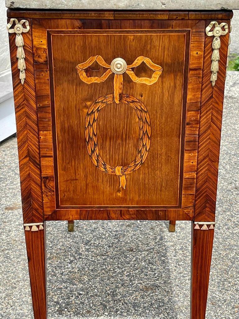 Early 19th Century Swedish Neoclassical Satinwood and Fruitwood Commode For Sale 2