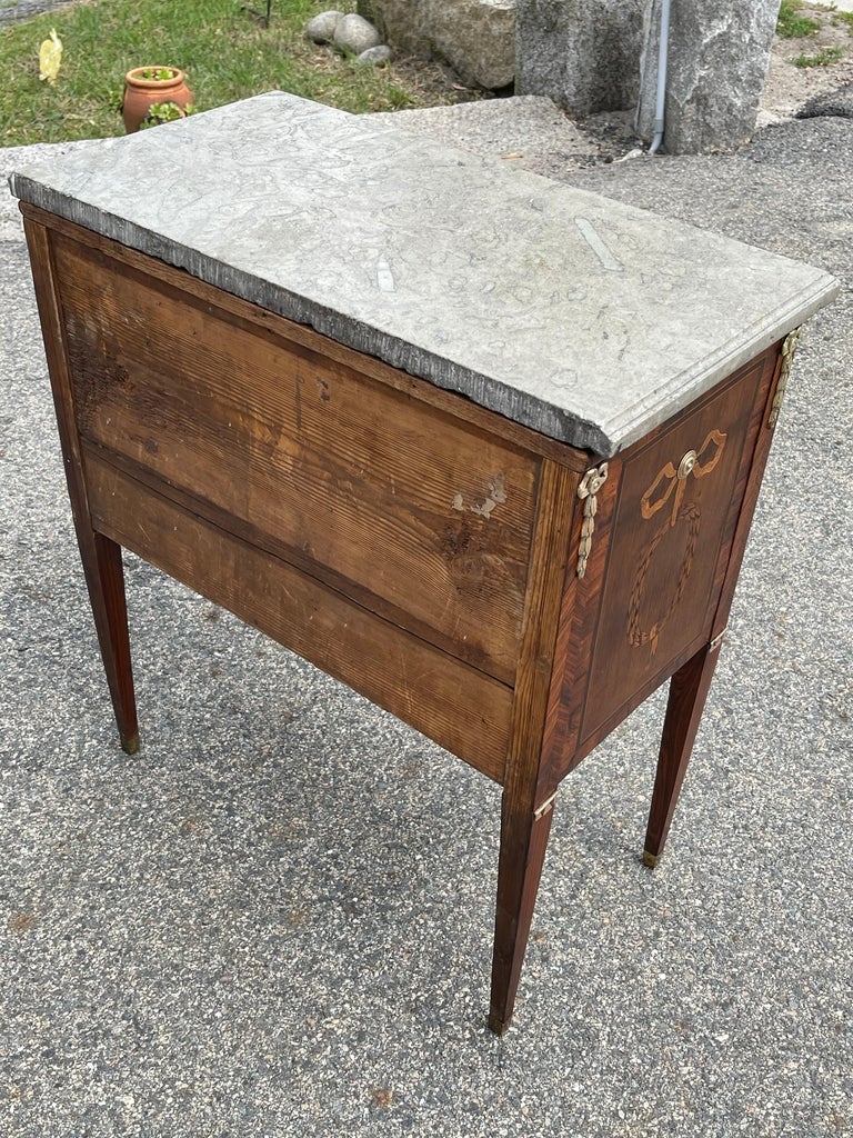 Early 19th Century Swedish Neoclassical Satinwood and Fruitwood Commode For Sale 4