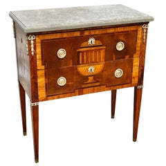 Early 19th Century Swedish Neoclassical Satinwood and Fruitwood Commode