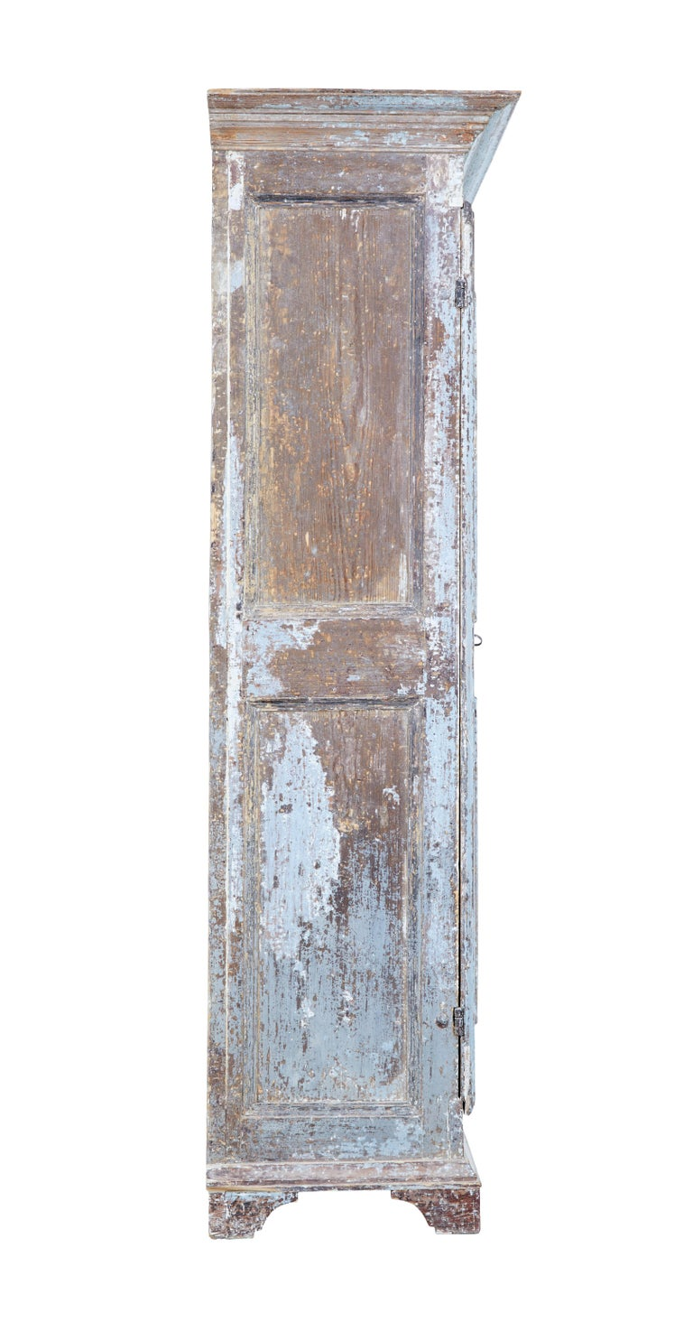 Hand-Painted Early 19th Century Swedish Painted Cupboard with Nobel Family Provenance For Sale
