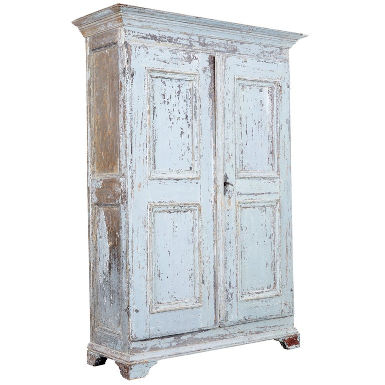 Early 19th Century Swedish Painted Cupboard with Nobel Family Provenance For Sale