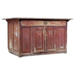 Early 19th Century Swedish Painted Pine Kitchen Cupboard