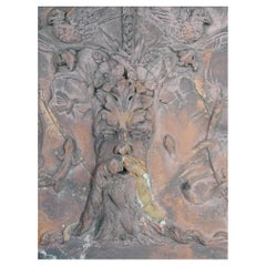 Early 19th Century Terracotta Tablet of the Green Man
