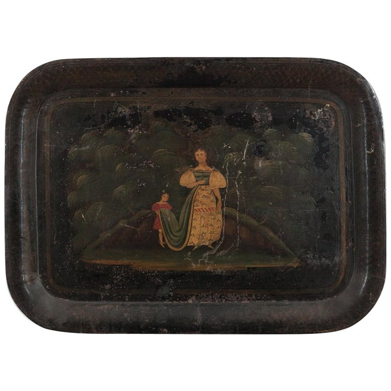 Early 19th Century Toleware Tray For Sale