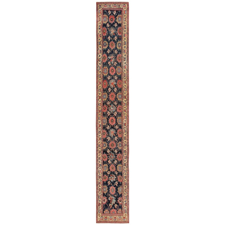 Early 19th Century Tribal Persian Northwest Runner Rug For Sale