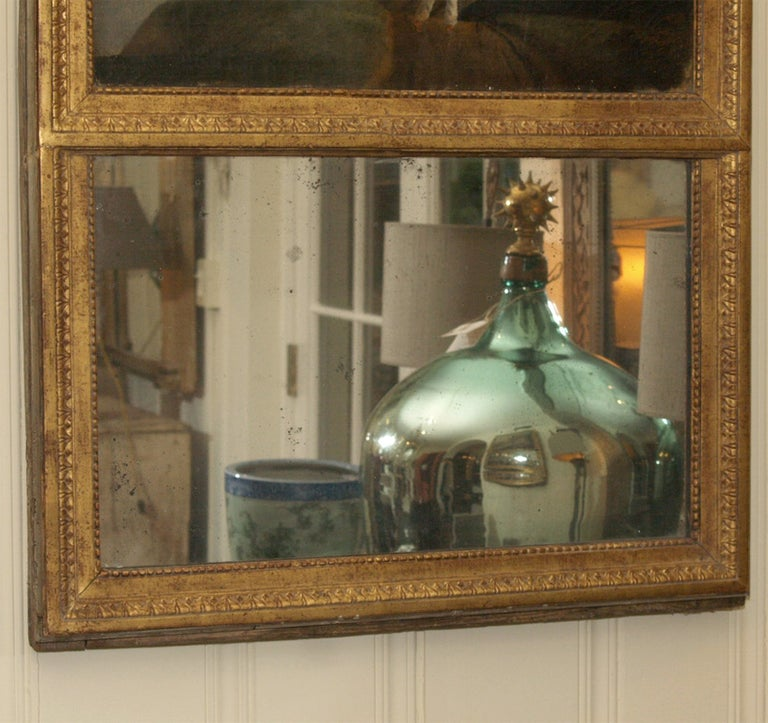 Early 19th Century Trumeau Mirror, Origin of France For Sale 2