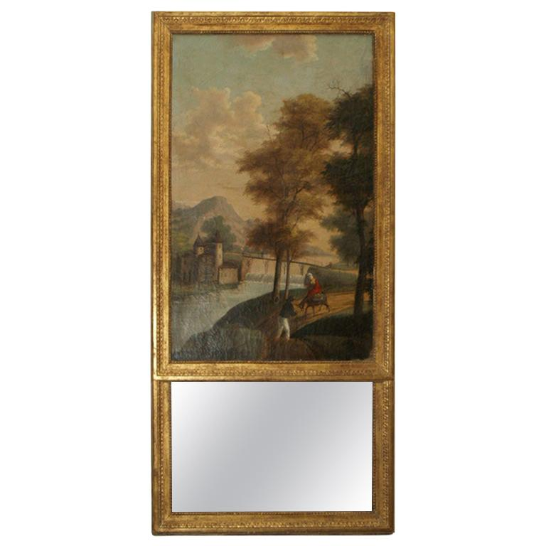 Early 19th Century Trumeau Mirror, Origin of France For Sale