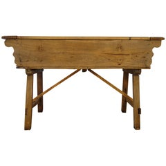 Early 19th Century Tuscan Farmhouse Kitchen Madia Bread Table, circa 1820