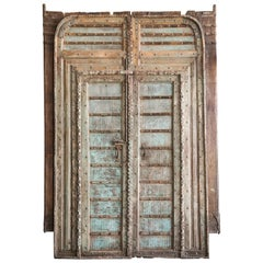 Early 19th Century Unique Heavily Reinforced Custom Made Court Yard Doors