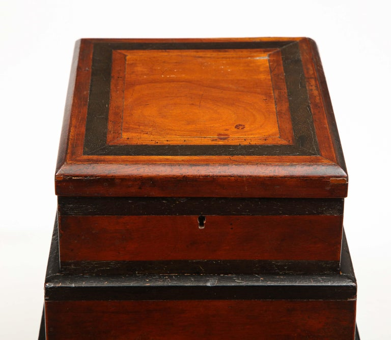 Early 19th Century, Unusual Biedermeier Three Compartment Box In Good Condition For Sale In New York, NY